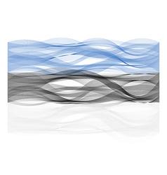 Wave line flag of estonia vector