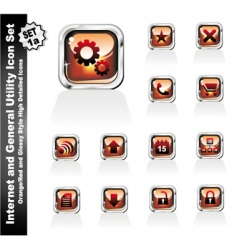 web and internet utility icons vector image