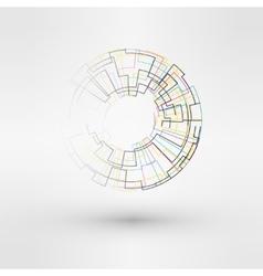 Wireframe mesh polygonal logo element torus with vector