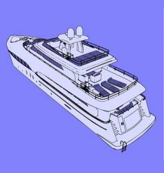yacht vector image vector image