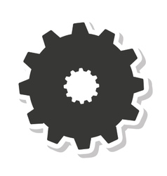 Gear setup isolated icon vector