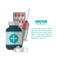 Doctor medicine medical health care icon vector
