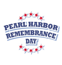 Usa pearl harbor remembrance day logo vector