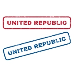 United republic rubber stamps vector