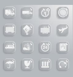 Cargo shipping symbols vector