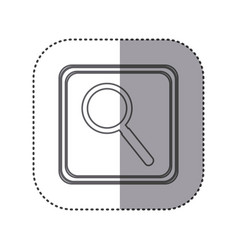 Figure emblem magnifying glass icon vector