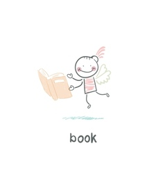 Man and book vector image