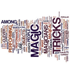 The joy from a magic show text background word vector