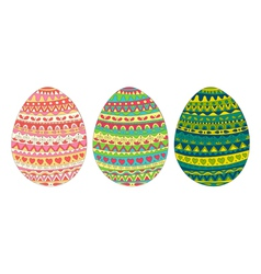easter egg card colors vector image