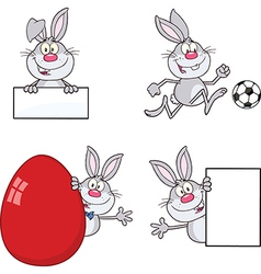 Bunny cartoon design vector