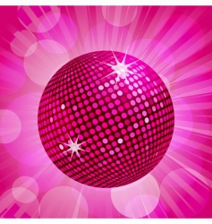 Abstract pink disco ball background vector