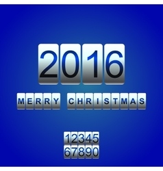 2016 new year white blue card odometer vector