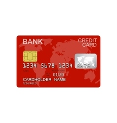 Credit card isolated on white background vector