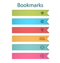 Bookmark icons bright vector