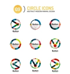 Collection of abstract circle logos vector