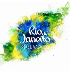 Inscription rio de janeiro brazil vacation vector