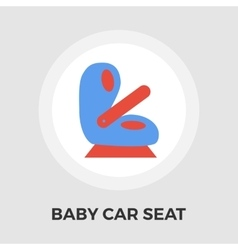 Child car seat flat icon vector
