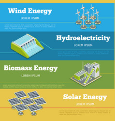 Renewable energy or eco infographics concept vector