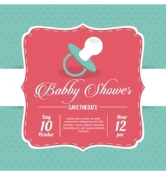 Baby shower design pacifier icon blue vector