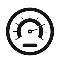 Speedometer icon simple style vector