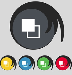 Active color toolbar icon sign Symbol on five vector image vector image