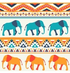 Animal seamless pattern of elephant vector image vector image