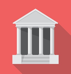 Bank flat style icon vector image