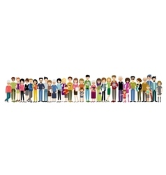 Big banner of people vector image vector image