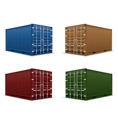 cargo container 104 vector image vector image