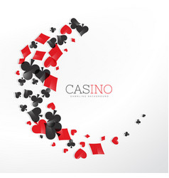 casino playing card elements in wave style vector image vector image