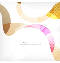 Colorful swirl wave lines vector image