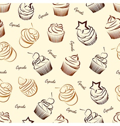 Cupcake seamless2 vector image vector image