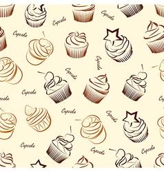 Cupcake seamless2 vector image