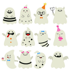 cute ghost character cute ghost character vector image vector image