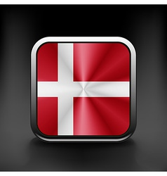 Denmark icon flag national travel icon country vector image