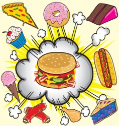 fast food items vector image
