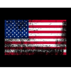 Grunge flag of america vector