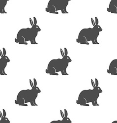 Hare or Rabbit silhouette seamless pattern vector image