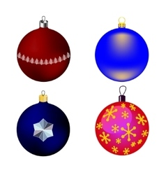 images four Christmas-tree toys vector image vector image
