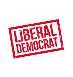 Liberal democrat rubber stamp vector