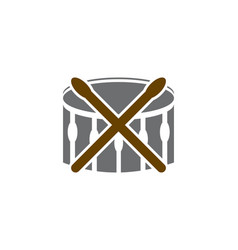 music drum logo vector image