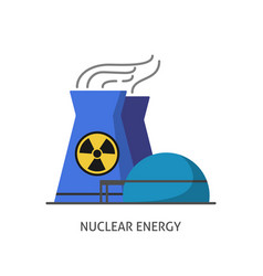 nuclear power plant icon in flat style vector image vector image