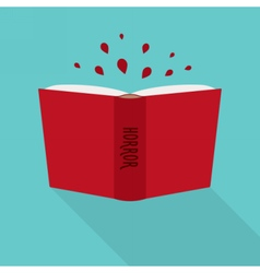 Open book icon concept of horror fiction genre vector