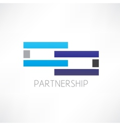 partnership abstraction icon vector image vector image