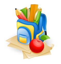 School bag vector