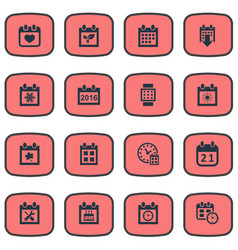 set of simple time icons vector image vector image