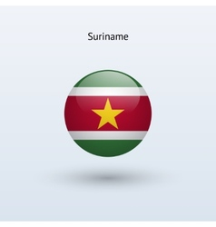 Suriname round flag vector