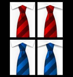 Tie red blue background vector