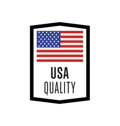Usa quality isolated label for products vector