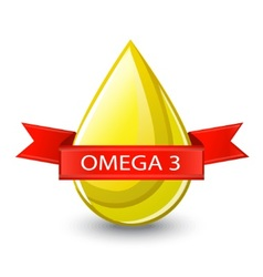 Useful acid omega 3 vector image